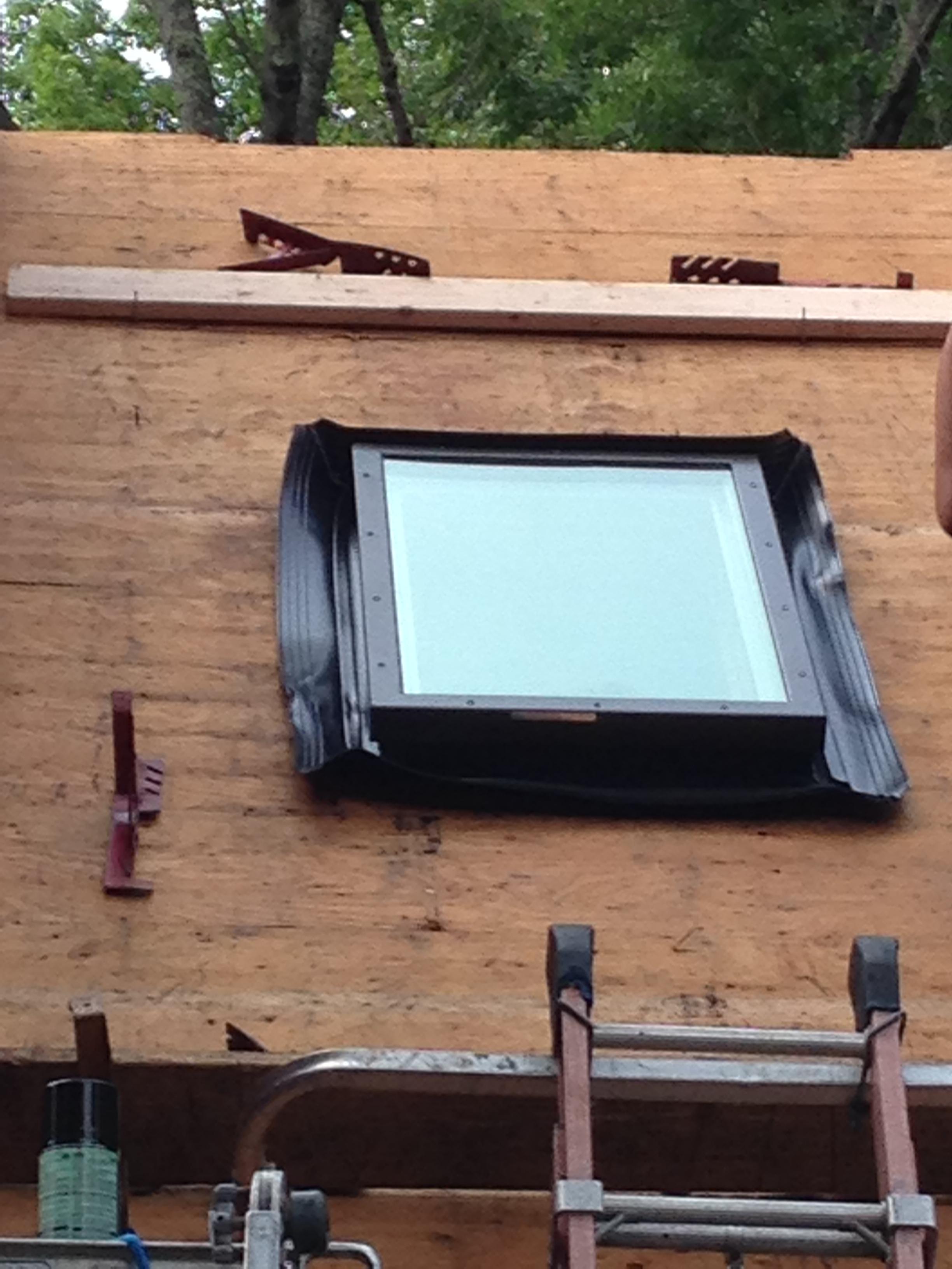 Custom Cape Exterior Renovation Part 3 Wasco Skylight Installation Us Building Products
