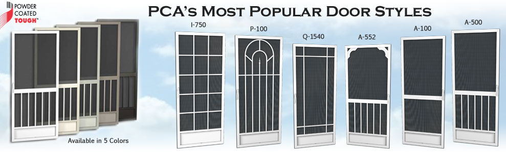 PCA Products most popular screen doors